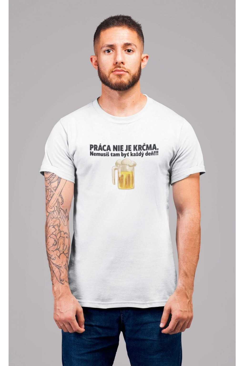 Pánske tričko Práca nie je krčma