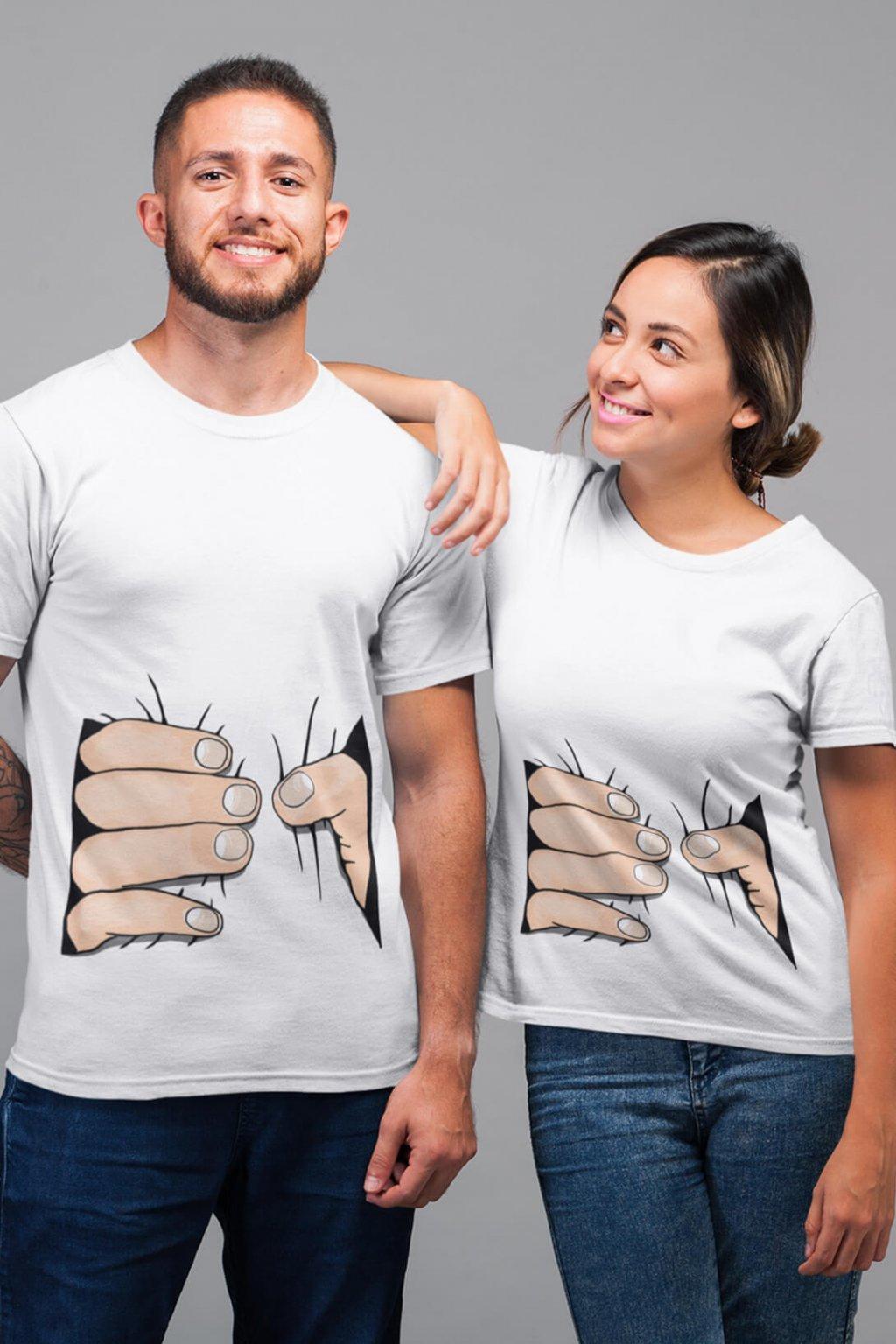 Tričká pre páry Sťahujúce ruky