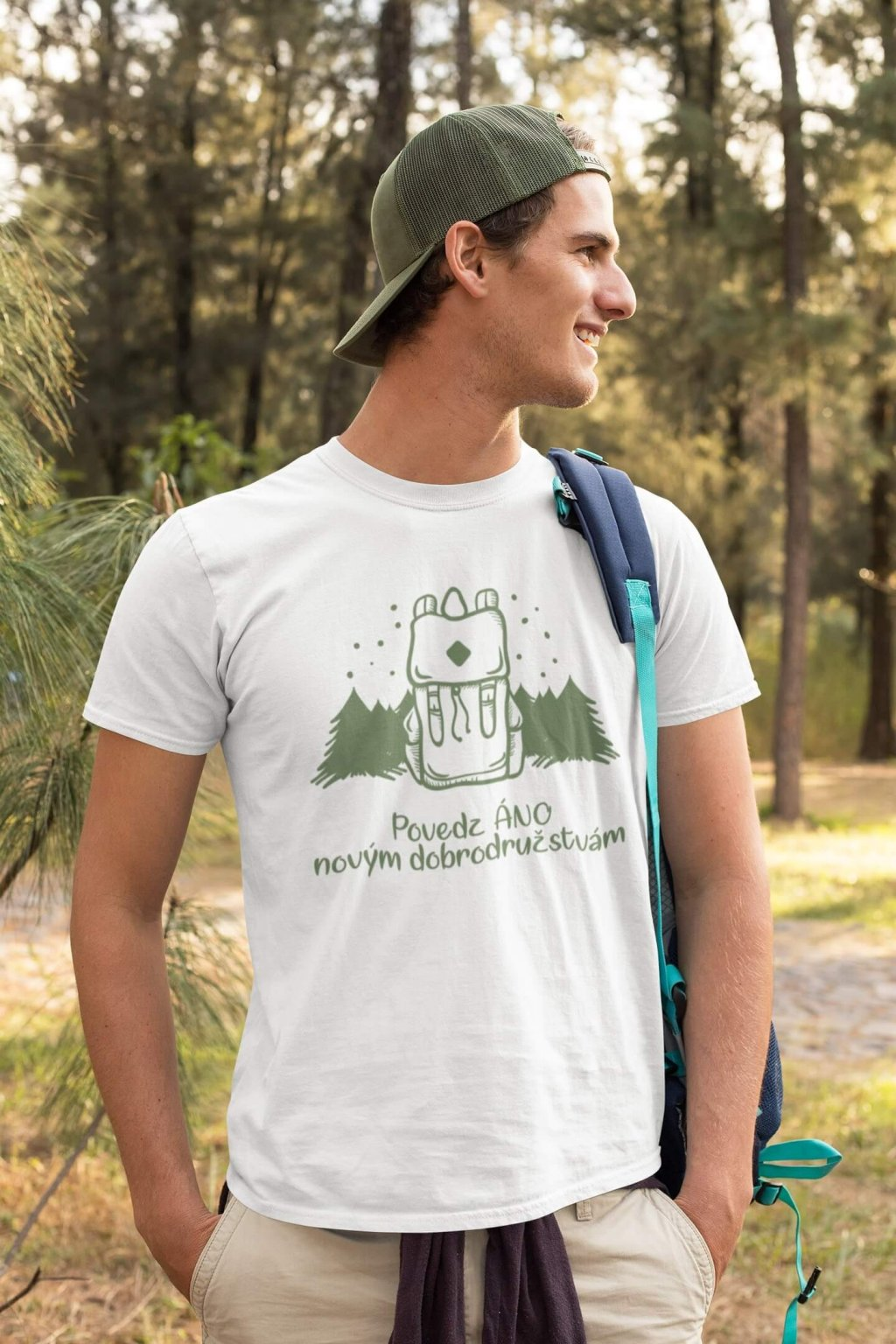 Pánske tričko Povedz áno novým dobrodružstvám