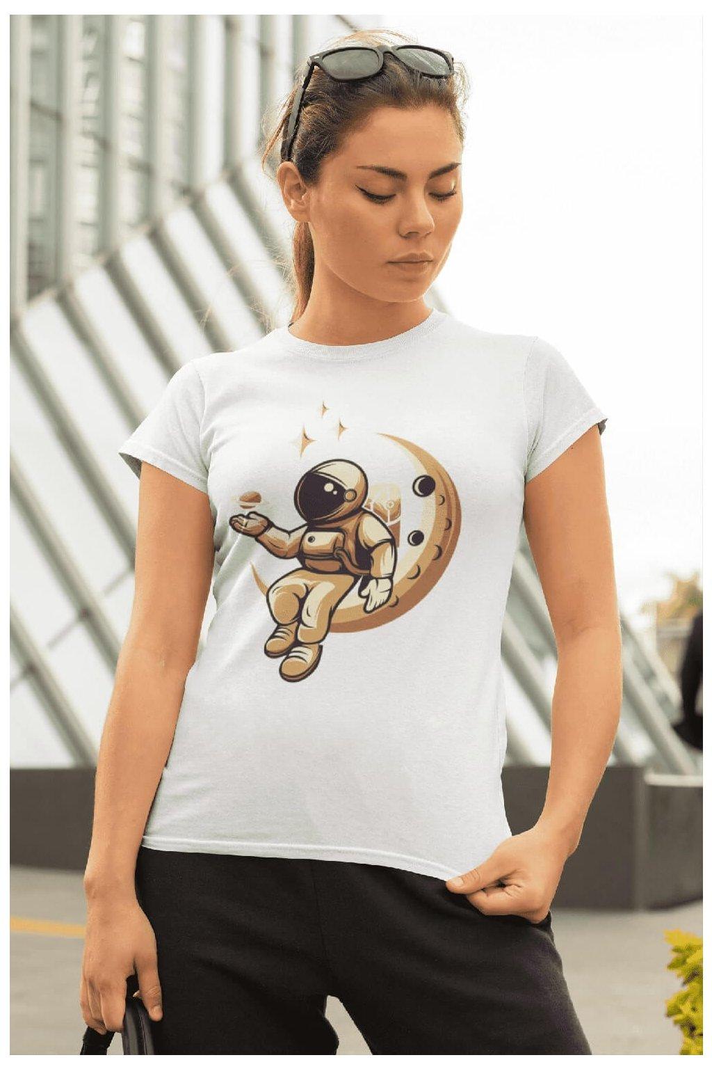 Dámske tričko Astronaut na mesiaci