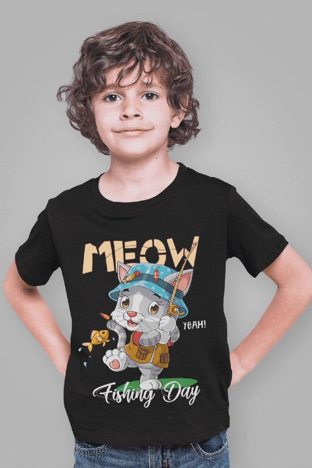 Chlapčenské tričko MEOW