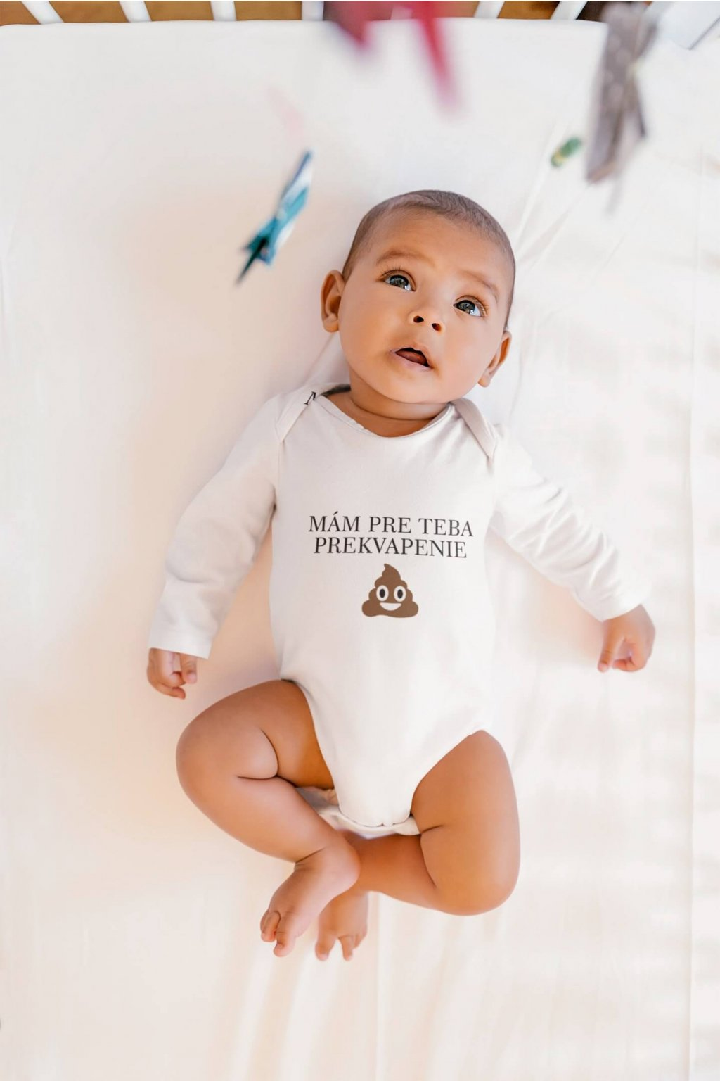 sublimated long sleeve onesie mockup featuring a baby lying on a crib 35725 r el2 (8)