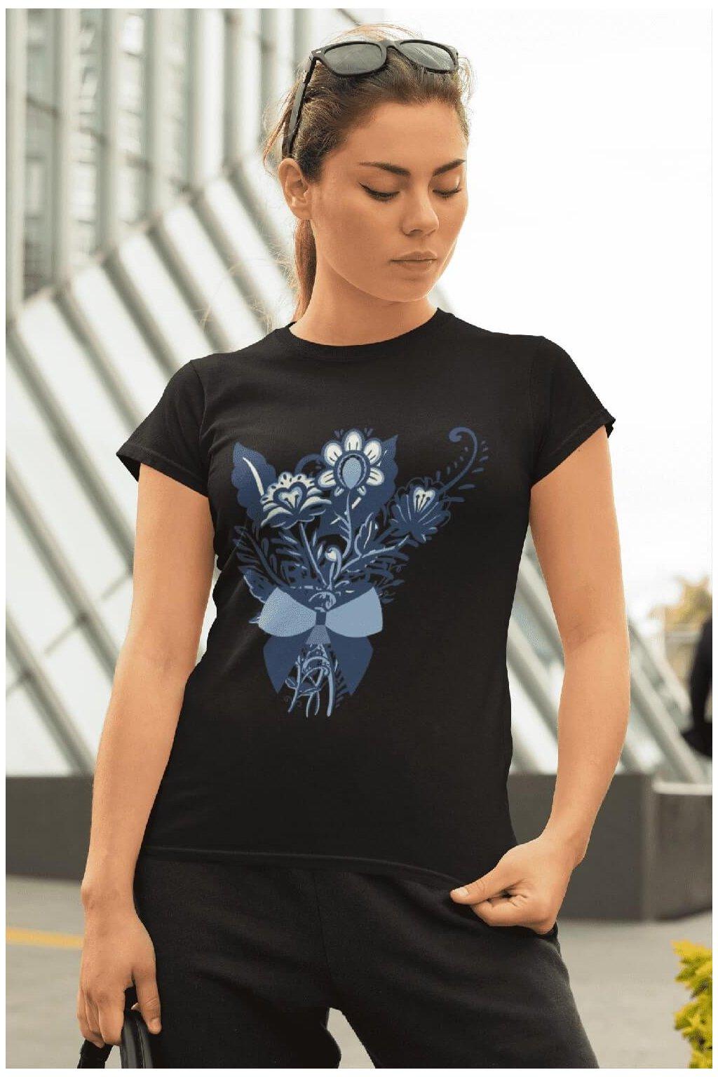 Dámske tričko Ľudová kytica