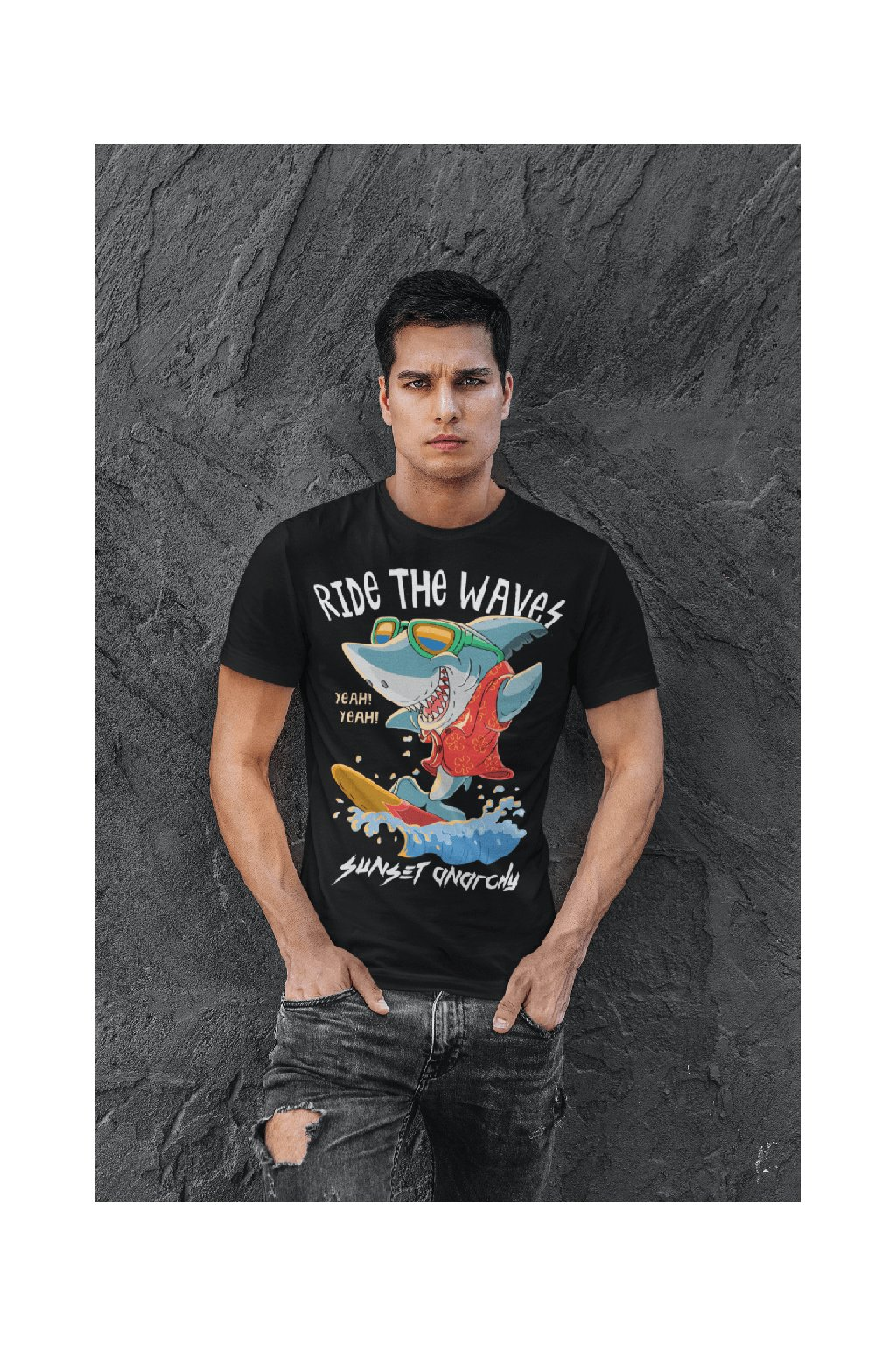 Pánske tričko RIDE THE WAVES