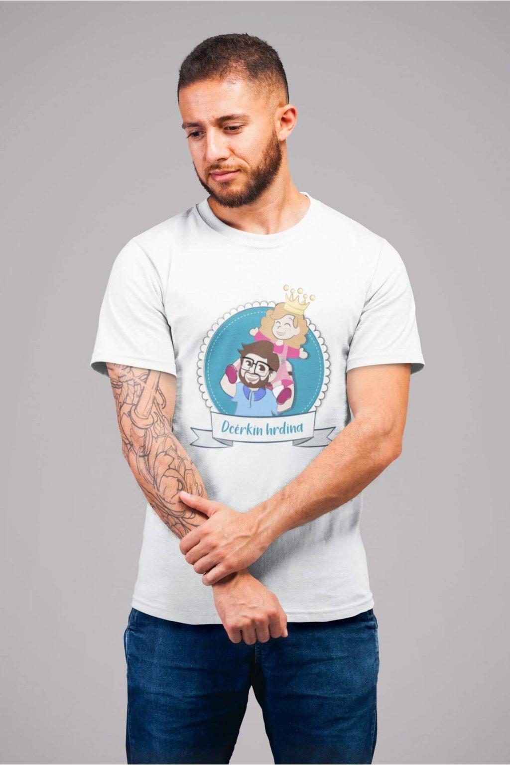 Pánske tričko pre otca Dcérkin hrdina