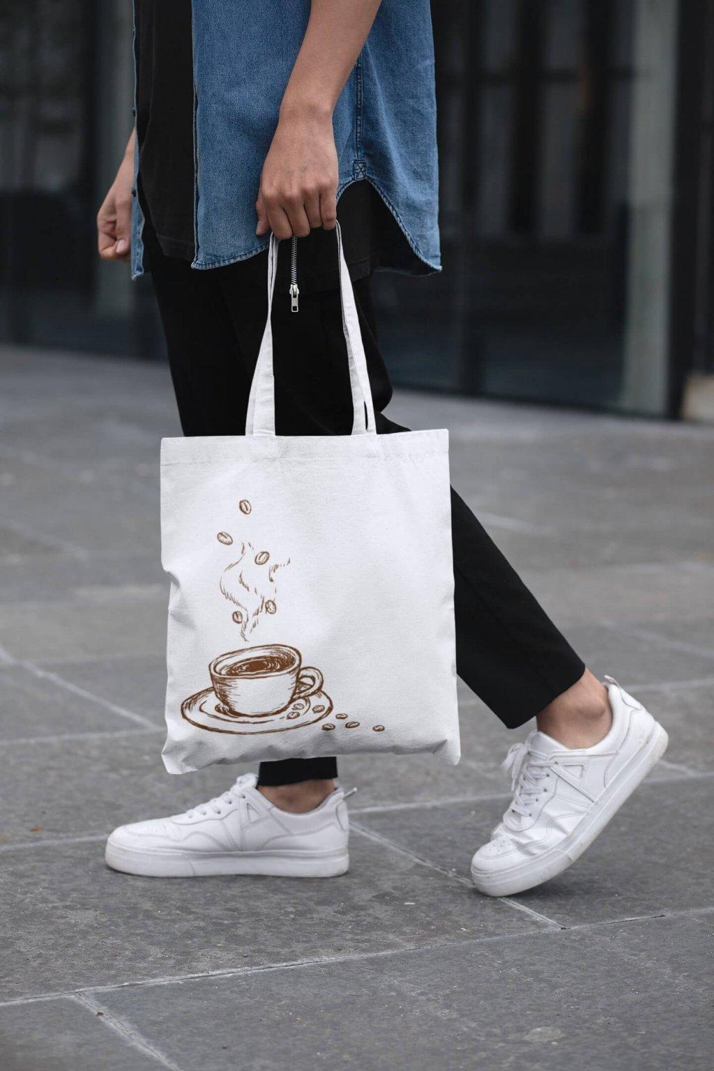 Bavlnená taška Káva