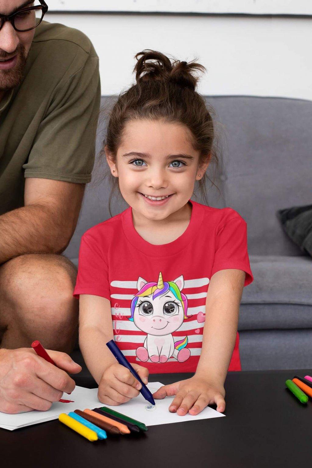 Dievčenské tričko Cute jednorožec