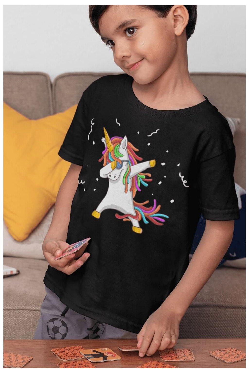 Chlapčenské tričko Dabujúci unicorn