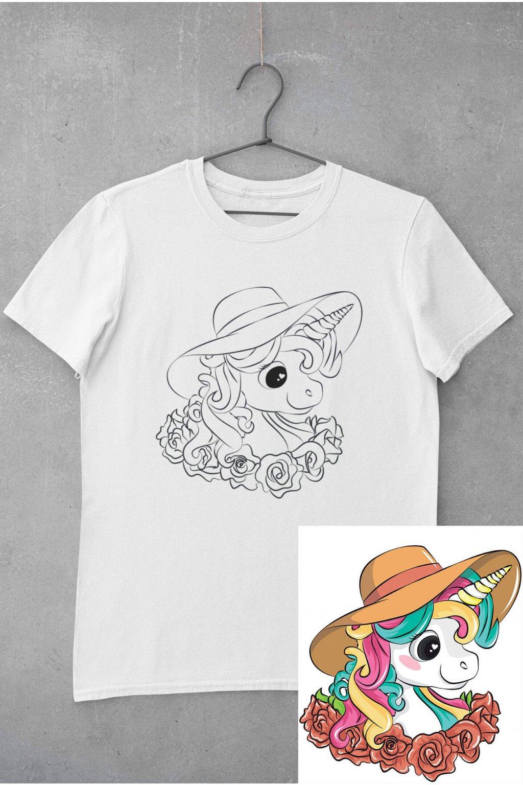 Detské tričko vymaľuj si Jednorožec