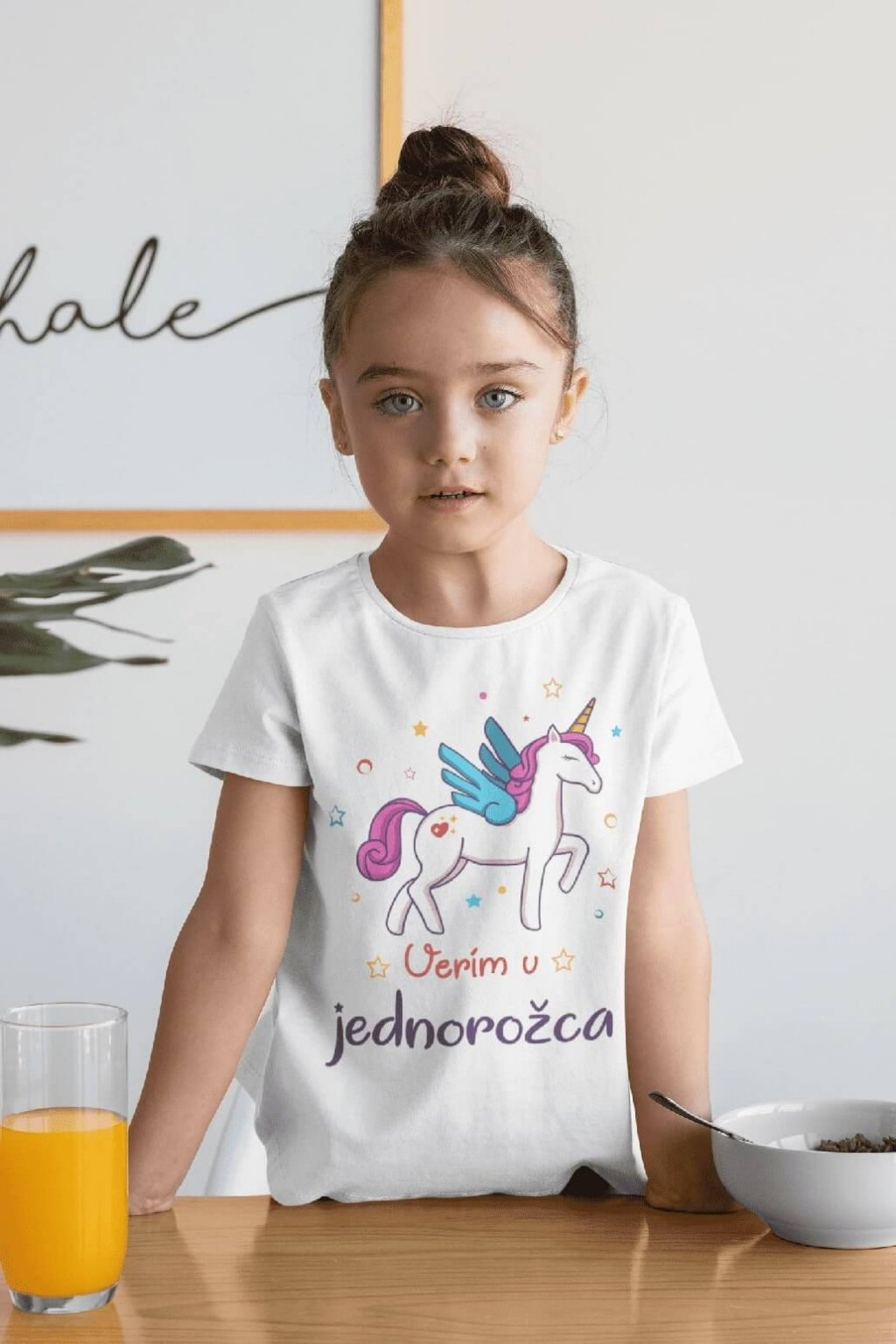 Dievčenské tričko Verím v jednorožca