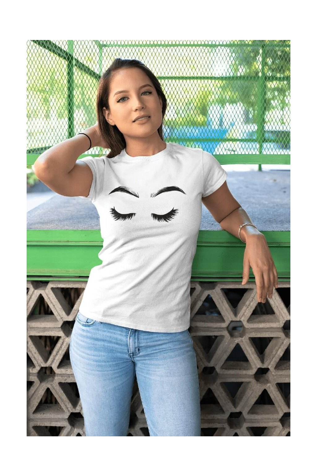 Dámske tričko Riasy s obočím
