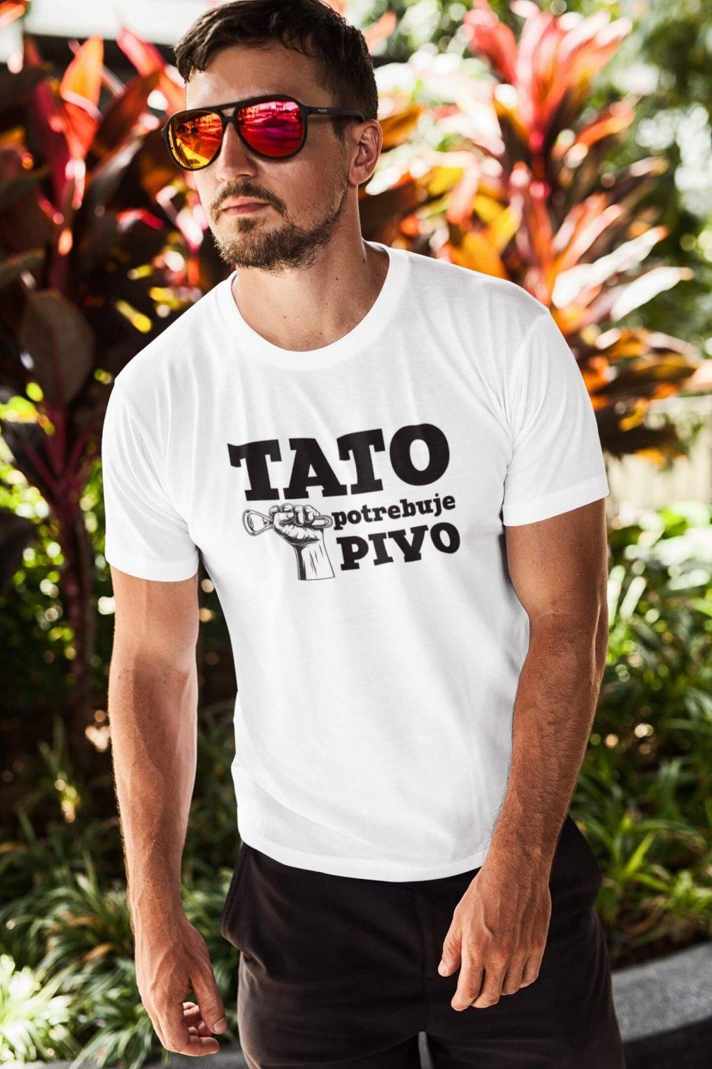 Pánske tričko Tato potrebuje pivo