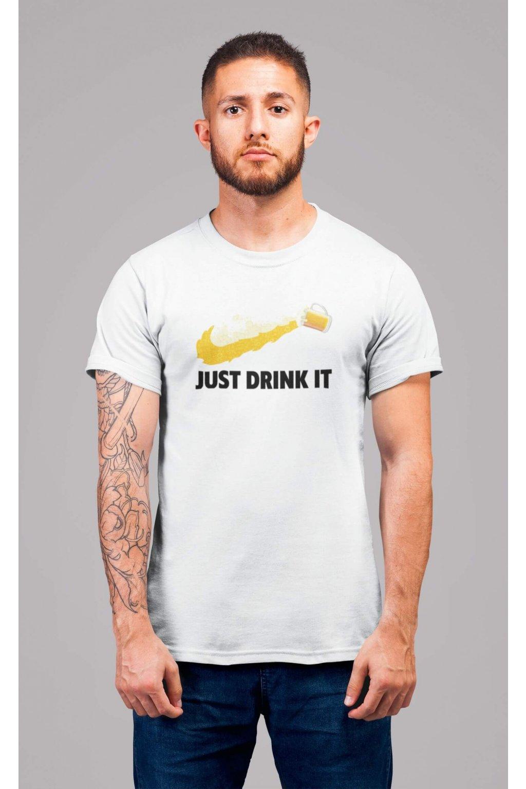 Pánske tričko Just drink it