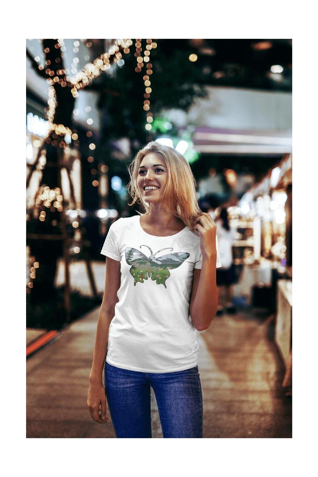 Dámske tričko Motýľ