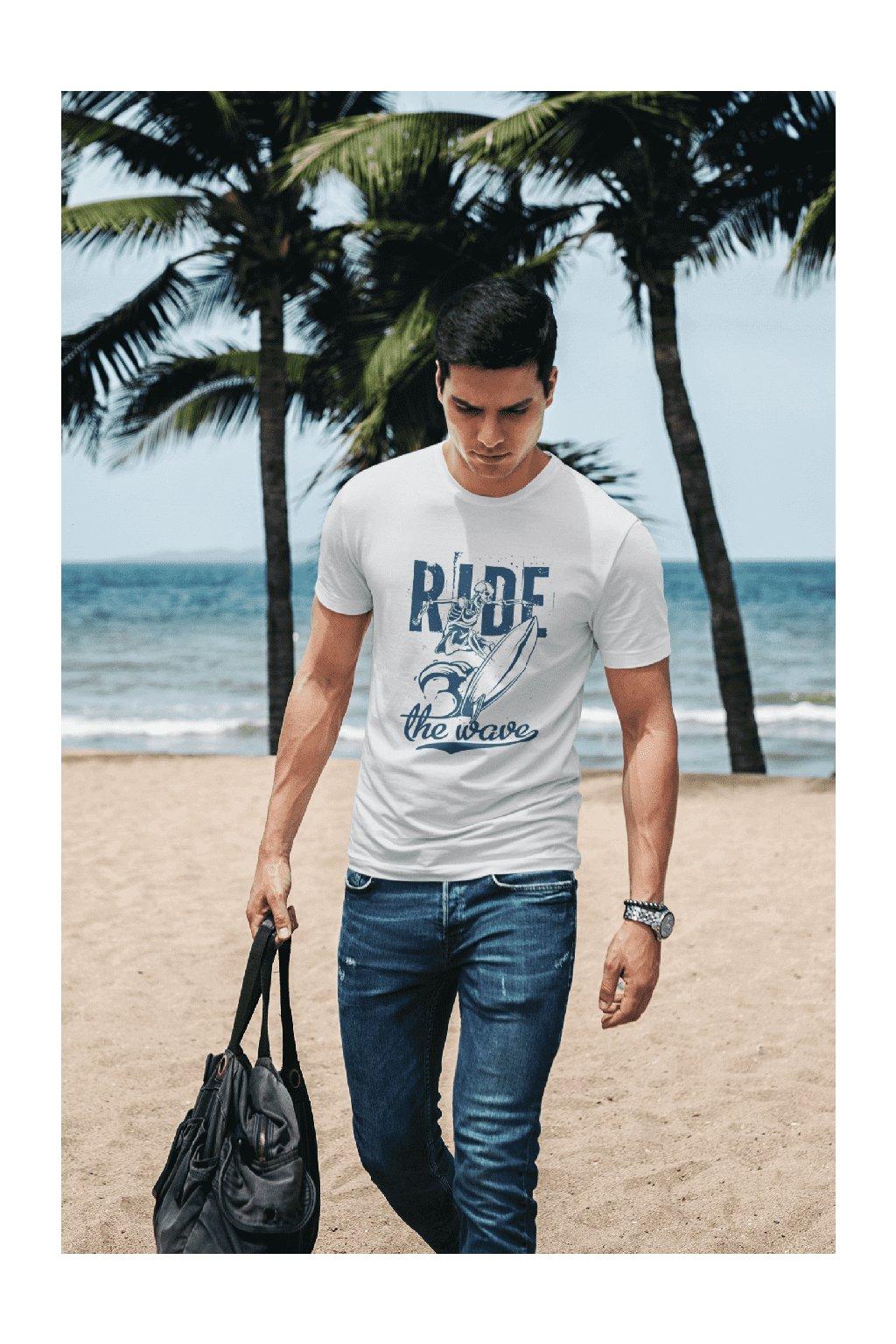 Pánske tričko Ride the wave
