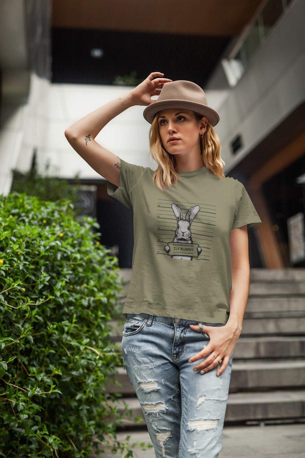 Dámske tričko Zlý Bunny