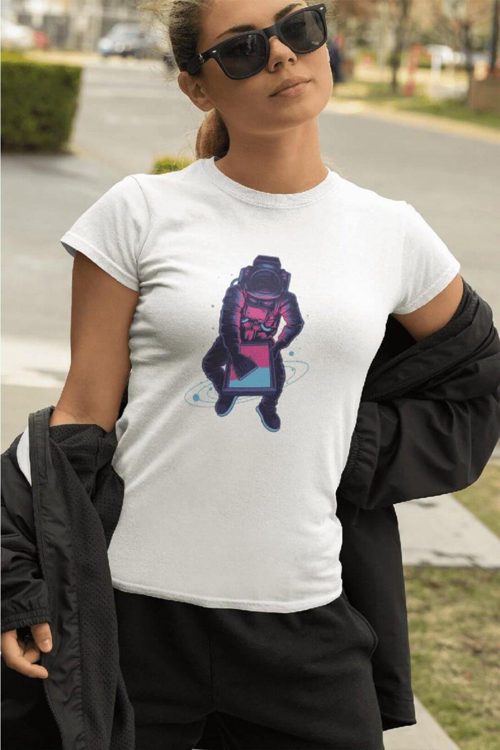 Dámske tričko Astronaut screen