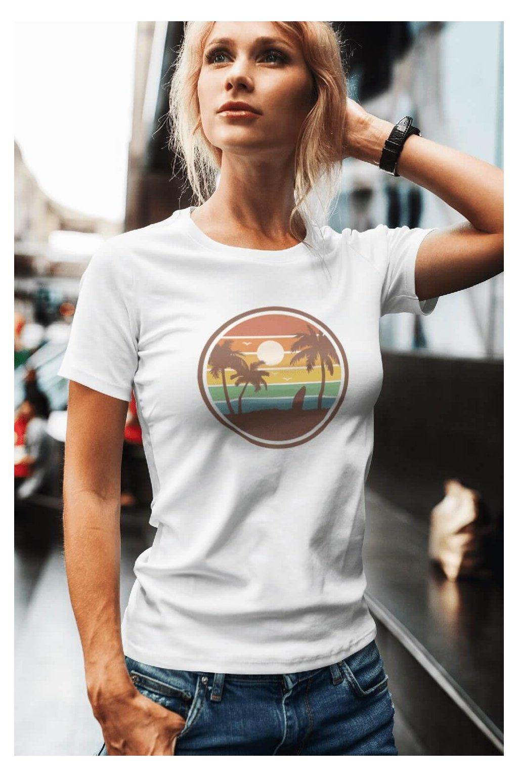 Dámske tričko Pláž