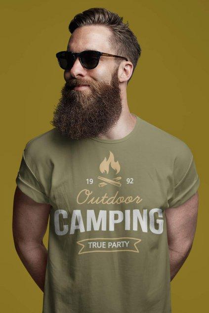 Pánske outdoorové tričko Camping