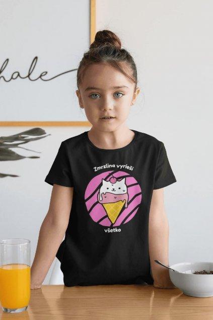 Dievčenské tričko Zmrzlina vyrieši všetko