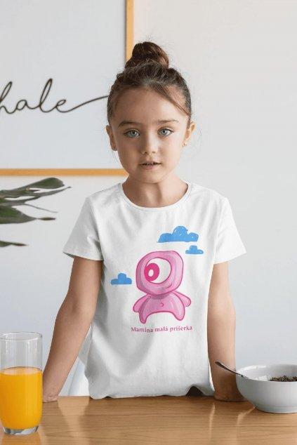 Dievčenské tričko Mamina malá príšerka