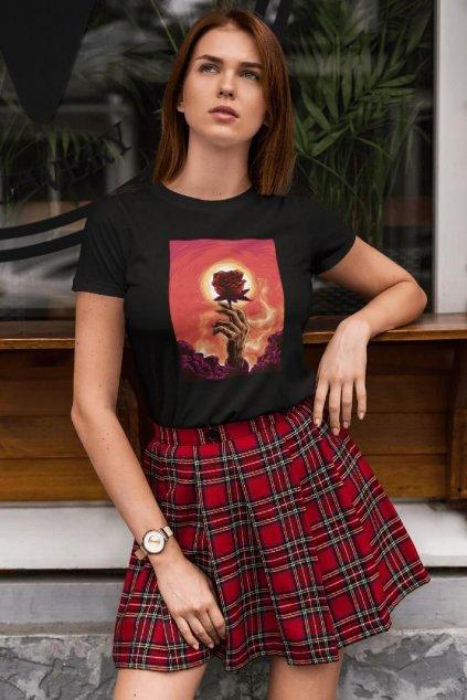Dámske tričko Ruža
