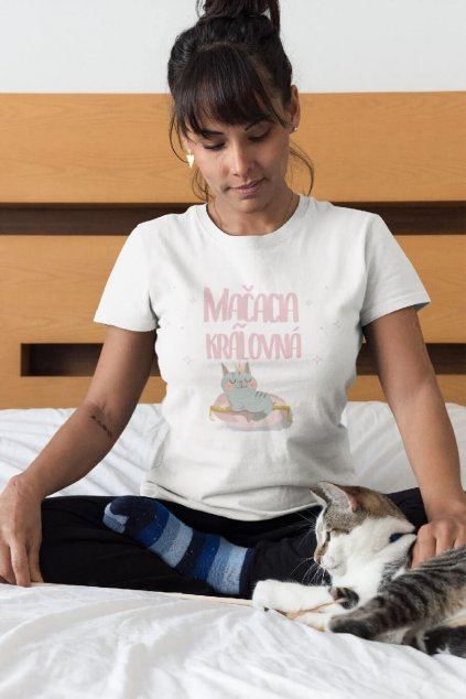 Dámske tričko Mačacia kráľovná