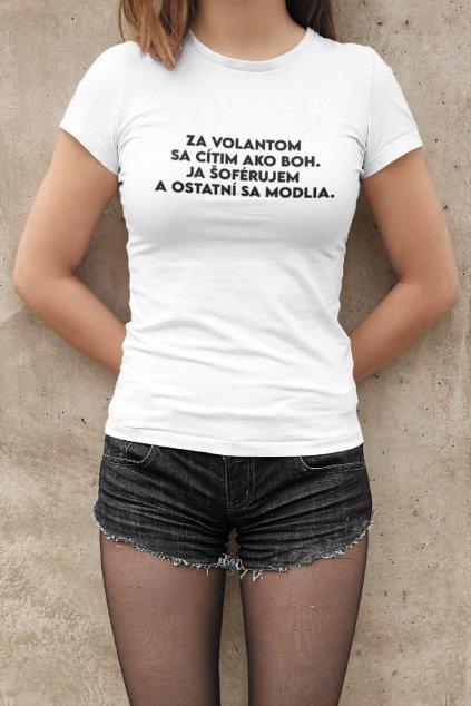 Dámske tričko Jazdím ako BOH