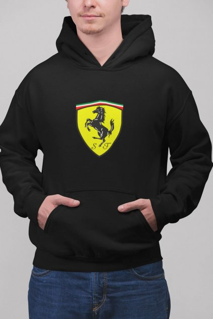 Pánska mikina s logom auta Ferrari