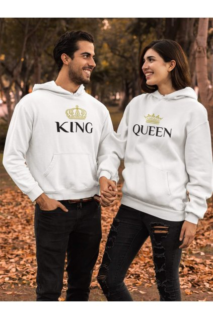 Mikina pre páry King Queen Gold