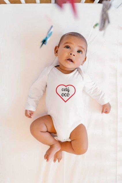 Dojčenské chlapčenské body Celý oco