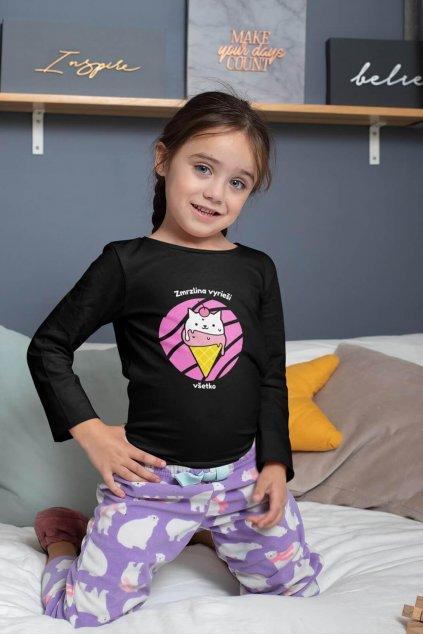 Dievčenské tričko s dlhým rukávom Zmrzlina vyrieši všetko