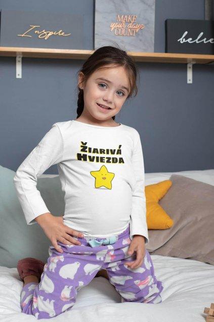 Detské tričko s dlhým rukávom Žiarivá hviezda