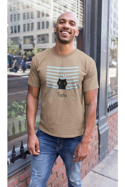 Tričko pre otca Mačacia rodinka