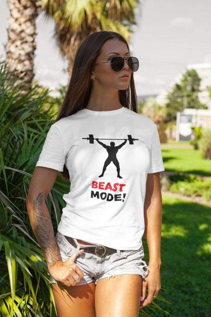 Dámske tričko Beast mode!