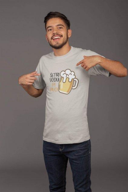 Pánske tričko Šetri vodu PI PIVO!