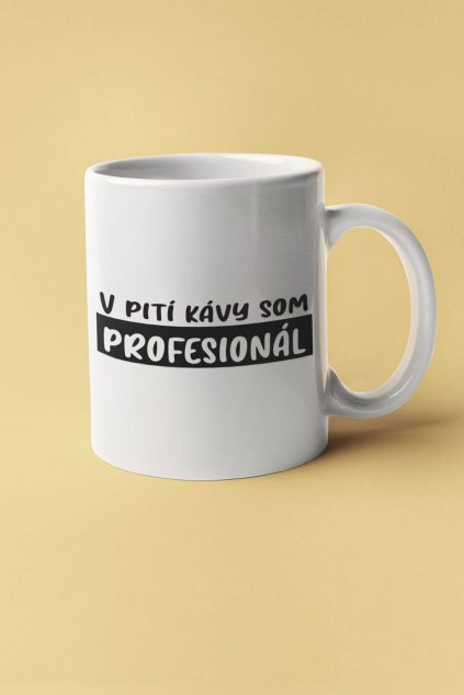 Šálka v pití kávy som profesionál