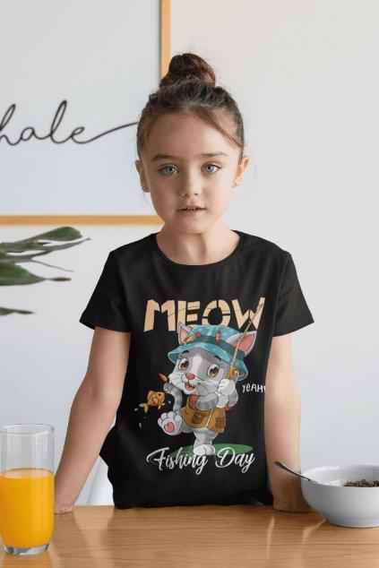 Dievčenské tričko MEOW
