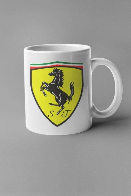 Šálka s logom auta Ferrari