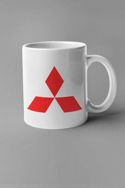 Šálka s logom auta Mitsubishi