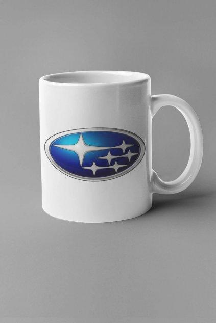Šálka s logom auta Subaru