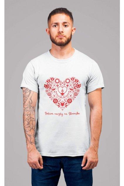 Pánske tričko Srdcom navždy na Slovensku