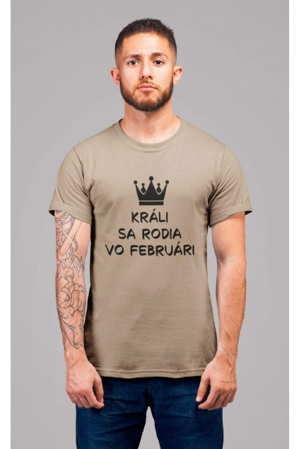 Pánske tričko Králi sa rodia vo februári
