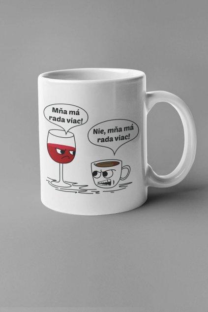 Šálka víno a káva