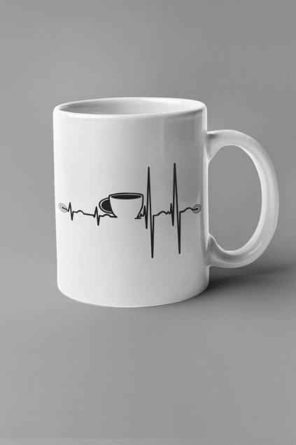 Šálka srdcový tep káva