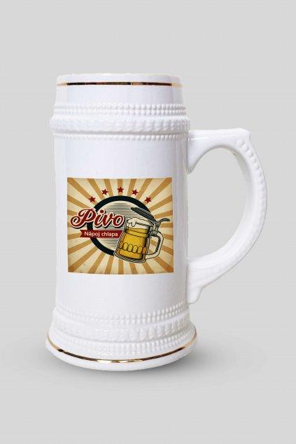 Pivný krígeľ Pivo - nápoj chlapa