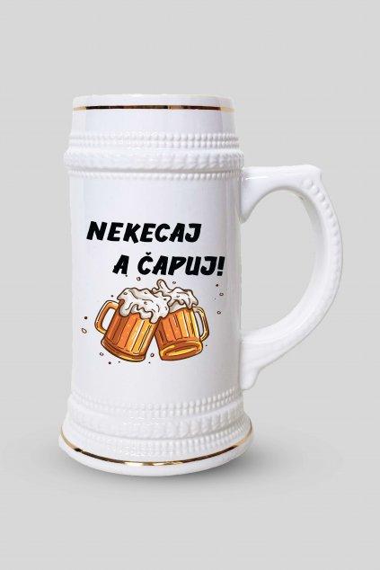 Pivný krígeľ ŠETRI VODU PI PIVO!