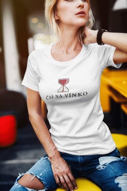 AKCIA Dámske tričko Čas na vínko