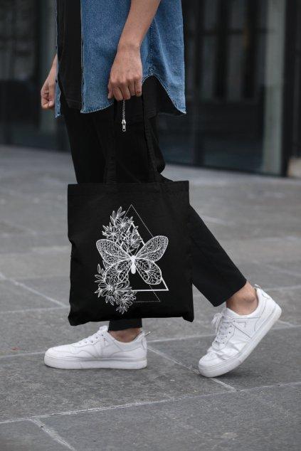 Bavlnená taška Motýľ