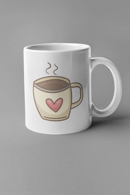 Šálka Káva so srdiečkom